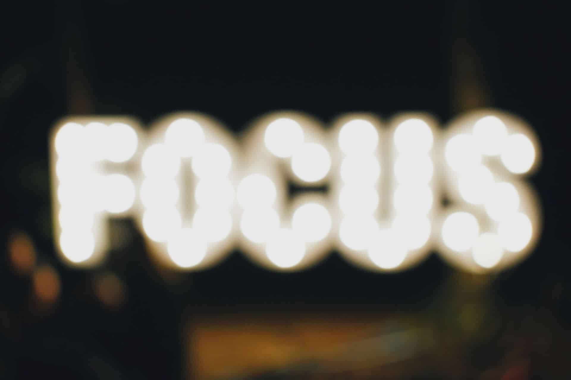 Sustained focus is a competitive advantage